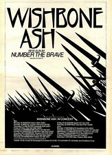 2/5/81PGN21 ADVERT: WISHBONE ASH THE NEW ALBUM NUMBER THE BRAVE 15X11