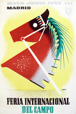 "18x24""Decoration Poster.Interior room design art.Madrid country horse fair.6642"