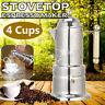Italian Style Induction Stove-Top Moka Espresso Coffee Maker Pot Stainless UK