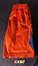 NIKE DRI-FIT Boys Orange Blue Striped Mesh Basketball Shorts Size XL EUC
