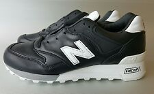New Balance Men's 577 Lux Football, Size 7.5,Black/White, M577FB, Leather,New,DS