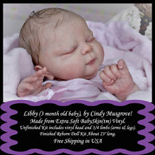 "Libby(3 mo baby),by Cindy Musgrove-1st Quality 23"" reborn Doll Kit-free ship USA"