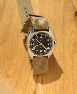 Hamilton RAF Military Issued Aviation Watch 6BB like W10 1975 with NATO Strap