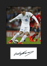 WAYNE ROONEY #5 Signed Photo Print A5 Mounted Photo Print - FREE DELIVERY
