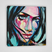 Fantasy Woman Colorful Portrait Abstract Framed Canvas Print Wall art Home YC45