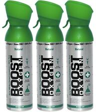 Boost Oxygen Supplement Portable Canister of Clean Oxygen 3 PACK- Natural MEDIUM