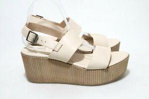 ELK Size 9 Womens Leather Open Toe Mule Strap Platform Wedge Sandal RRP $220