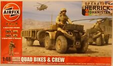 Airfix 1/48 British Forces Quad Bikes & Crew Figures Model Kit
