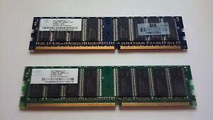 1Gb (2x512Mb) DDR400 (PC3200) 184-pin RAM