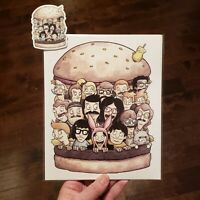 Bob's Burgers 8x10 Print With Free Sticker Signed By Artist