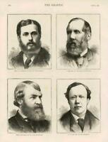 1873 - Antique Print PORTRAIT Lyttelton Laing Agnew Stone Politicians (140)