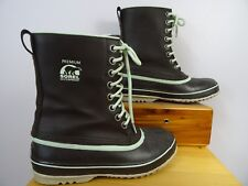 Sorel Insulated Premium Cuff Waterproof Snow Winter Boots Womens Sz 8 US  VGUC