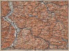 BAD RAGAZ PRÄTIGAU MONTAFON ENVIRONS. Wangs Rätikon Bludenz Maienfeld 1913 map