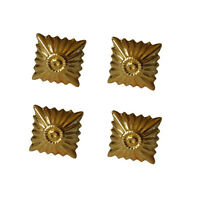 Medium Gold Rank Pip - WW2 Repro German Badge Pin Insignia Uniform New Set of 4