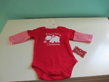 """XMAS CREEPERS - NEW """"Babys 1st xmas"""". 0-3 months - CUTE FREE SHIPPING"""