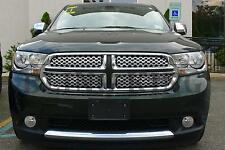 2011-2013 Dodge Durango chrome mesh grille grill insert trim 4pc
