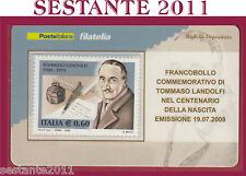 TESSERA FILATELICA FRANCOBOLLO COMMEMORATIVO TOMMASO LANDOLFI 2008 M40
