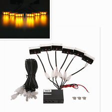 18 Amber LED Emergency Vehicle Flash Strobe Lights For Car Front Deck Dash Grill