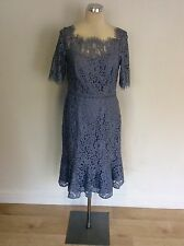 MONSOON BLUE LACE SHORT SLEEVE SPECIAL OCCASION  DRESS SIZE 12