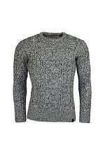Men's Wool Blend Chunky, Cable Knit Crew Neck Jumpers & Cardigans