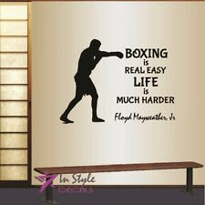 Vinyl Decal Floyd Mayweather Quote Boxing Easy Life Harder Wall Art Sticker 2173