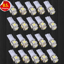 SL 20x T10 5050 W5W 5 SMD 194 168 LED White Car Side Wedge Tail Light Lamp Bulb