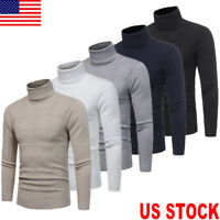 US Mens Thermal Underwear Long Sleeve Turtle Neck Top Ski Warm Winter T Shirt