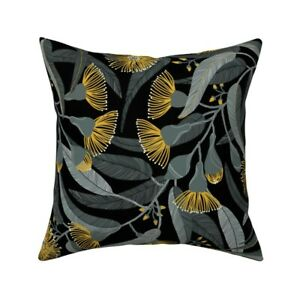 Yellow Hawaii Eucalyptus Throw Pillow Cover w Optional Insert by Spoonflower