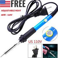 Electric Soldering Iron Gun Adjustable Temperature 60W Welding Set Tool 110V RF
