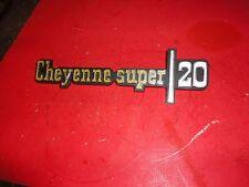nos 1974 CHEVROLET TRUCK CHEYENNE SUPER 20 EMBLEM 6273133 K20 1975,1976,1977