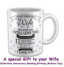 Valentines Gifts For Wife Love Mugs Anniversary Birthday Day Gifts Ladies Her
