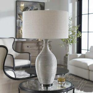 "DINAH UPSCALE MODERN 31"" COARSE MOTIF CERAMIC TABLE LAMP UTTERMOST 27518"
