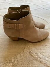 GUESS Women GEORA Ankle Boots Beige Suede - Size 9