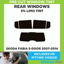 Skoda Fabia 5-door 2007-2014 5% Limousine hinten Vorgeschnittene Scheibentönung