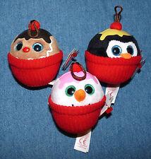 TY baby beanies ornaments Ice Cream Sundae set Coco Flakes Gelato Christmas NWT