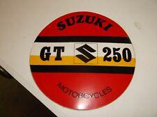 vintage suzuki advertisment sticker genuine  35 years old nos gt 250