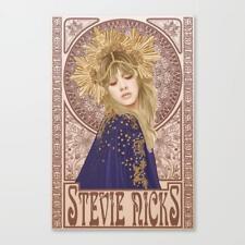 STEVIE NICKS CANVAS ART PRINT OR POSTER FLEETWOOD MAC MUCHA ART NOUVEAU