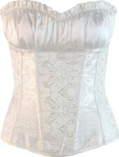 Victorian Style Ruffled Bust Overbust Corset Top Vintage Inspired Size 6 - 24