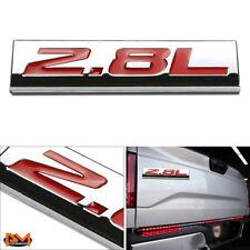 """""""2.8L"""" Polished Metal 3D Decal Red Emblem Exterior Sticker For Volkswagen/Saab"""