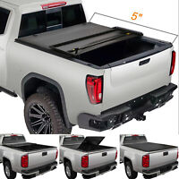 Tri-Fold Soft Tonneau Cover for 2005-2015 Toyota Tacoma Double Cab 5' Short Bed