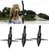 3Stk Fishing Fish Bow Hunting Arrow Tips Boardhead Archery Arrowhead Points C1A2