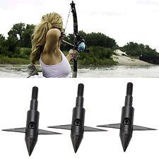 3stk fishing fish Bow Hunting Arrow TIPS boardhead Archery Arrowhead points. ~