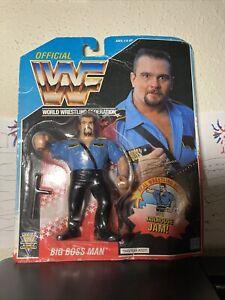 WWF The Big Boss Man MOC HASBRO series 3 Wrestling Figure NIB WWE WCW 1992 MINT