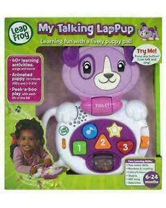 LEAP FROG My Talking Lappup (violet) Age 6-24 Months Peek a Boo Lap Pup