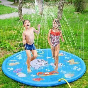 Splash Pad Sprinkler Kinder Matte Wasserspielmatte Garten Sommer Spielzeug 170cm