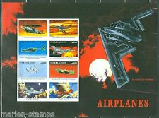 SIERRA  LEONE  IMPERF AIRPLANES STEALTH BOMBER SHEET  SC#2172  MINT NH