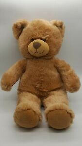 """Build-A-Bear 15"""" Light Brown Bear with Red BAB Paw Stamp - Excellent Used Cond"""
