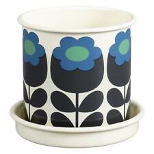 Orla Kiely Medium Enamel Plant Pot Primrose Emerald - New & Boxed