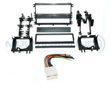 Radio Stereo Mounting Installation Dash Kit Combo Single DIN + Wire Harness MI16