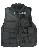 Us Swat Airsoft Tactical Hunting Combat Vest Size M Black